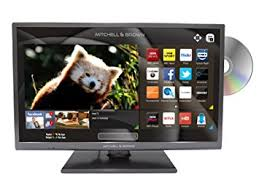 "JB-241811FSMDVD Mitchell & Brown 24"" LED, T2 Tuner, HD Ready, SMART, Freeview Play, DVD Player, Dark Titanium, 7 years warranty."