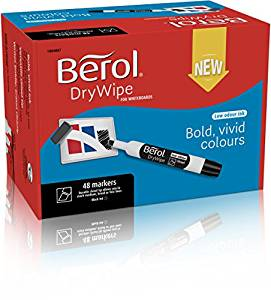 1984869 Berol Dry Wipe Marker Round Assorted Pack of 96 3P- 1984869