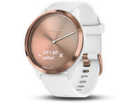 Garmin Vivomove HR, sport Rose-gold w/white band, large 010-01850-02 - eet01