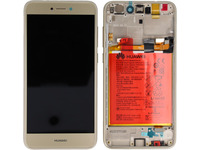 Huawei LCD With Touch Glass, Frame and Battery, Gold 02351VBR - eet01