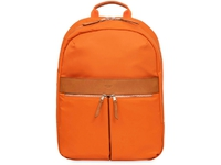 "Knomo Beauchamp Backpack 14"" Nylon w/ Leather Trim, Papaya 119-401-PYA - eet01"