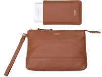 Knomo Bond Charge Purse incl. Batt 3000 mAh, Leather, Camael 120-050-CAR - eet01