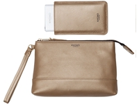 Knomo Bond Charge Purse incl. Batt 3000 mAh, Leather, Gold 120-050-GLD - eet01