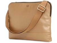 "Knomo Molton Cross Body 12"" Leather, Gold 120-056-GLD - eet01"
