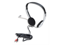Manhattan Stereo Headset, Silver, 2.0m 3.5 mm, 100 dB 164429 - eet01