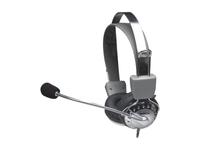 Manhattan Stereo Headset, 3.5mm Cordlenght, 2.5 m, Grey 175517 - eet01