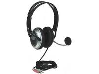 Manhattan Classic Stereo Headset, Black 2.3m 175555 - eet01