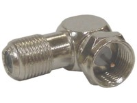 1839 Maximum F-connector, angle Male / female, 100 PCS - eet01