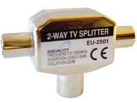 1902 Digiality TV splitter EU-2501 0-1000 MHz - eet01