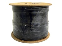 32075 Digiality Coax cbl NAP48 1.13/4.8/7.3mm Ground cable, black, 500m - eet01