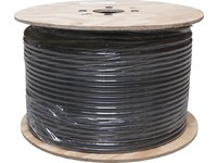 32097 Digiality Coax cable N92 2.2/9.2/12.7mm HF ground cbl, black, 250m. CU - eet01