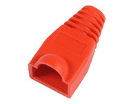 33303-25 MicroConnect Boots RJ45 Red 25pack 25pcs in one bag - eet01