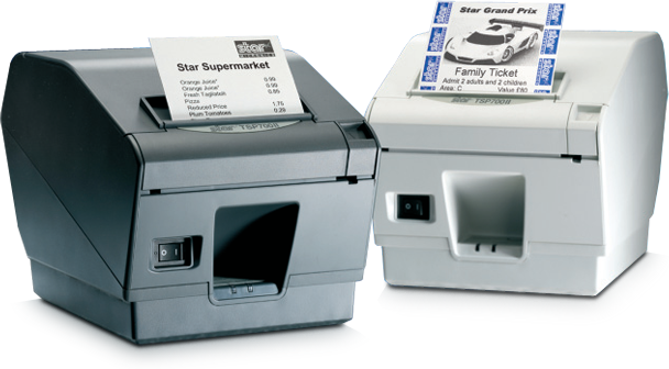 Star Micronics TSP743IID-24, WHITE With Cutter 39442300 - eet01