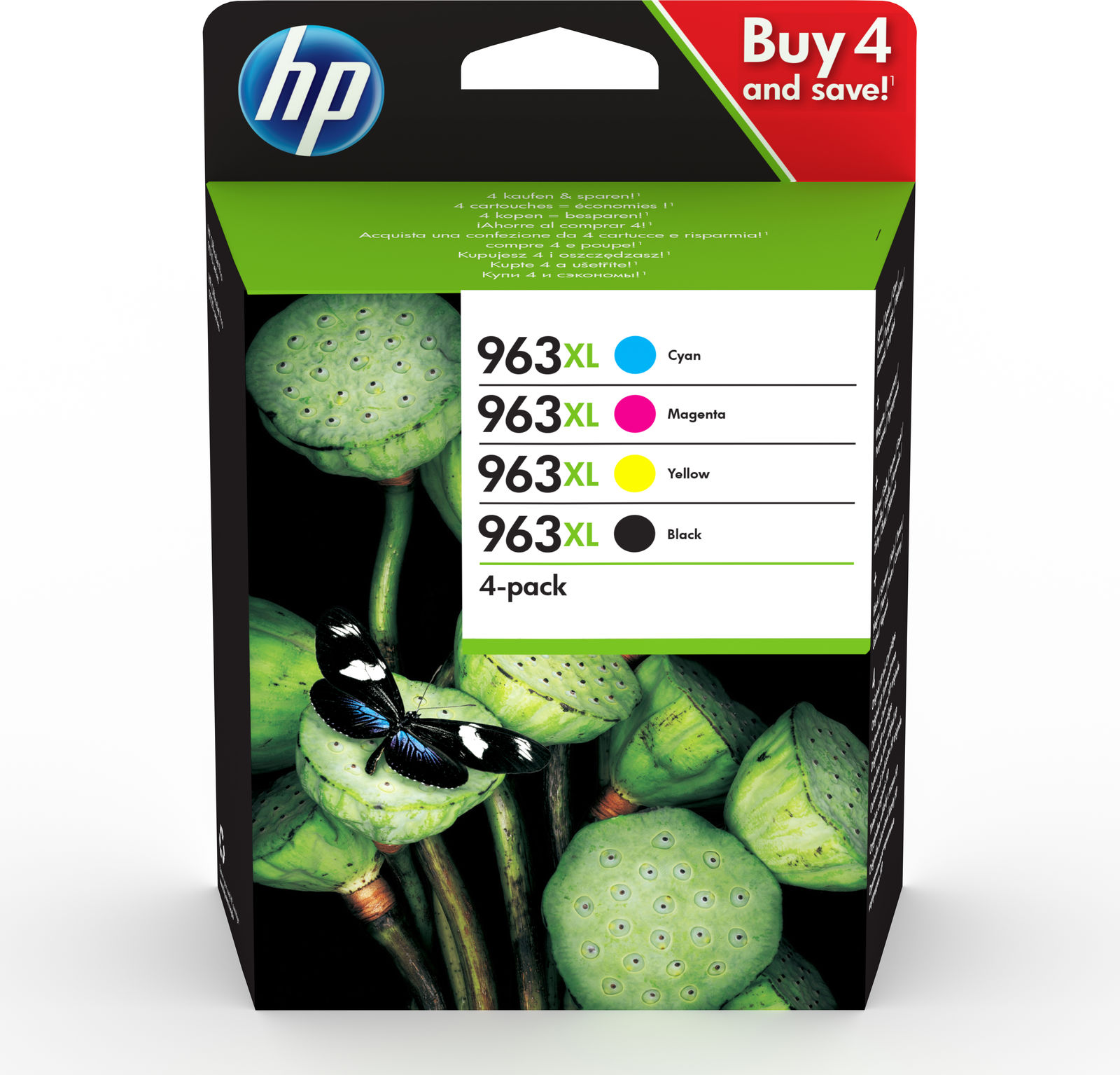 HP Ink Cartridge 963Xl C/M/Y/K **New Retail** 3YP35AE - eet01