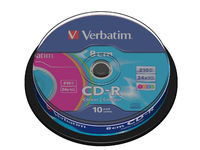 43413 Verbatim 9 cm CD-R Data 210MB Colour 10 Pack - eet01