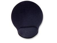 Manhattan Wrist-Rest Mouse Pad, Black Gel-like Foam 434362 - eet01