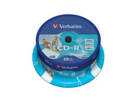 Verbatim AZO CD-R 52X 700MB Printable ID Branded,25 Pack 43439 - eet01