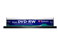 Verbatim DVD-RW 2X 8 cm 1.4GB Hard Coat.23-78mm No IDBrand 10Pack 43640 - eet01