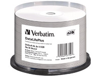 43754 Verbatim DVD+R Double Layer 8X 8.5GB Prof.W.Ther. print.no ID50Pack - eet01