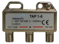 4806 Digiality Antenna 1-Way Tap 6 dB split 5-1000 MHz - eet01