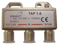 4808 Digiality Antenna 1-Way Tap 8 dB split 5-1000 MHz - eet01