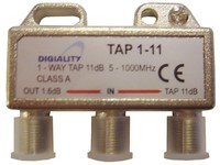 4811 Digiality Antenna 1-Way Tap 11 dB split 5-1000 MHz - eet01