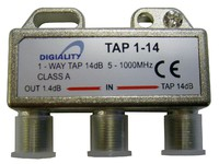 4814 Digiality Antenna 1-Way Tap 14 dB split 5-1000 MHz - eet01