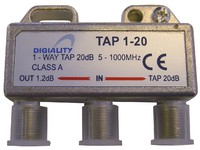 4820 Digiality 1-way tap 1.2 /20 dB 5-1000 MHz - eet01