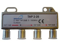 4842 Digiality 2-way tap 1.5/20 dB 5-1000 MHz - eet01