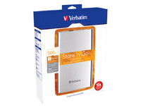 Verbatim External HD 500 GB Silver 2.5 inch, 64 mm, USB 3,0 53021 - eet01