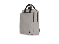 "Knomo James 15"" Tote Backpack With Leather trim Grey/Black 56-402-GRY - eet01"