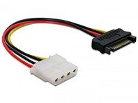 Delock Powercable SATA 15pin -> Molex 4pin ma/fe 60115 - eet01