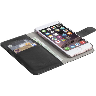 Krusell Eker FolioWallet 2in1 IPhone 7 Black 60724 - eet01
