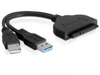 Delock SATA Adaptor SATA 22pin -> USB3.0 A +USB A ma/ma 61883 - eet01