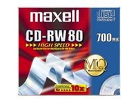 Maxell CD-RW 80  700MB 1-12X JC 10pac 10 pcs 626001 - eet01