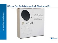 63402S80RAL7016 Maximum 80 cm Sat Dish 6 dgr Solution 1 x Monoblock LNB / WM - eet01
