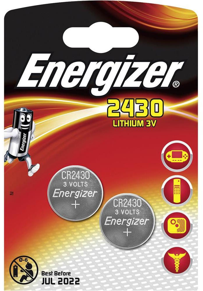 Energizer LITHIUM CR2430 2PK  637991 - eet01