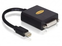 Delock Adapter mini Displayport ->DVI (24+5) ma/fe Black 65098 - eet01