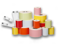 Zebra Label roll  89 x 25mm Permanent, Paper, 6 rolls/box 76058 - eet01