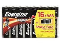Energizer Battery AAA/LR03 Alkaline Powe 16-pak 7638900289268 - eet01