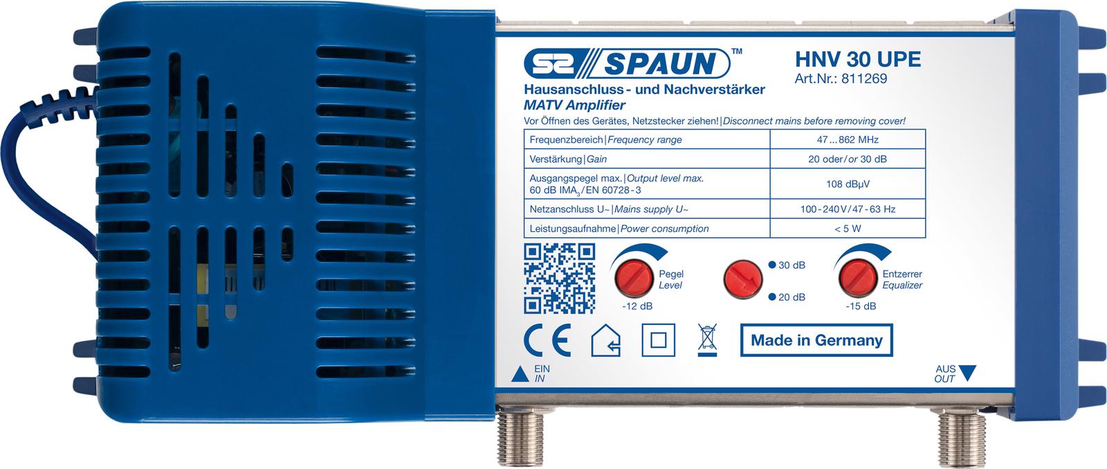 Spaun HNV 30 UPE MATV-/Home Amplifier 811269 - eet01