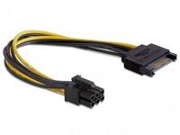Delock Power SATA 15-pin -6-pin PCI-E  82924 - eet01