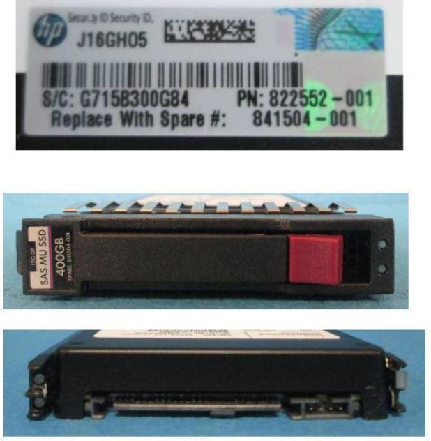 Hewlett Packard Enterprise DR SSD 400GB 12G 2.5 SAS MSA MU 841504-001 - eet01