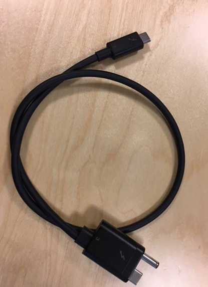 HP Thunderbolt 3 power cable **Refurbished** 855117-001-RFB - eet01