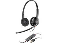 Plantronics Blackwire C320-M Corded Headset, Binaural 85619-01 - eet01