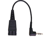 Jabra QD Cord to 2x 3,5mm Pin Plug 15 cm, Straight 8734-749 - eet01