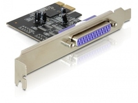 89219 Delock Parallel PCI-E Card, LP 2.5 Mbit/s, Wired - eet01