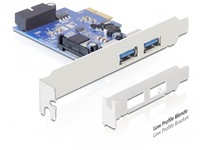 Delock 2 x ext. USB 3.0, LP, PCIe + 1xUSB3.0 Pin Header int 89315 - eet01
