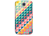89861 Krusell PrintCover Green Triangle Samsung I9500 Galaxy S IV - eet01