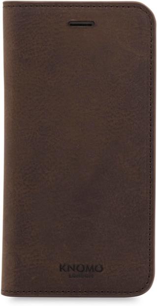 Knomo IPhone 8/7 Premium Folio Leather Folio Brown 90-972-BRN - eet01